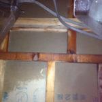 浴室の天井裏からの水漏れ